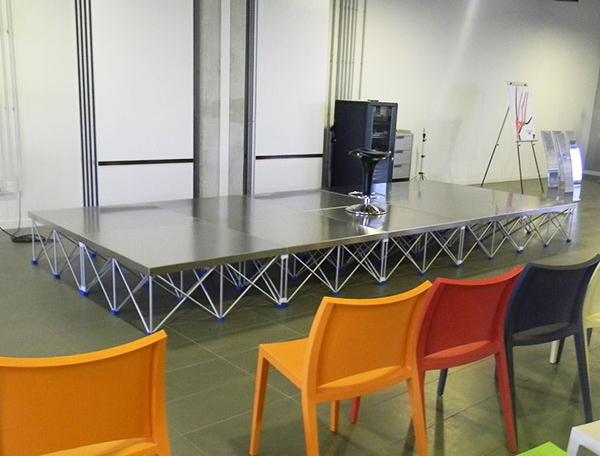 foto ambientato del palco modulare