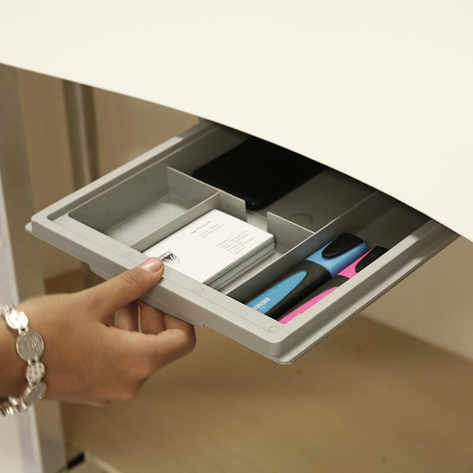 cassetto estraibile del banco reception portatile nuvola
