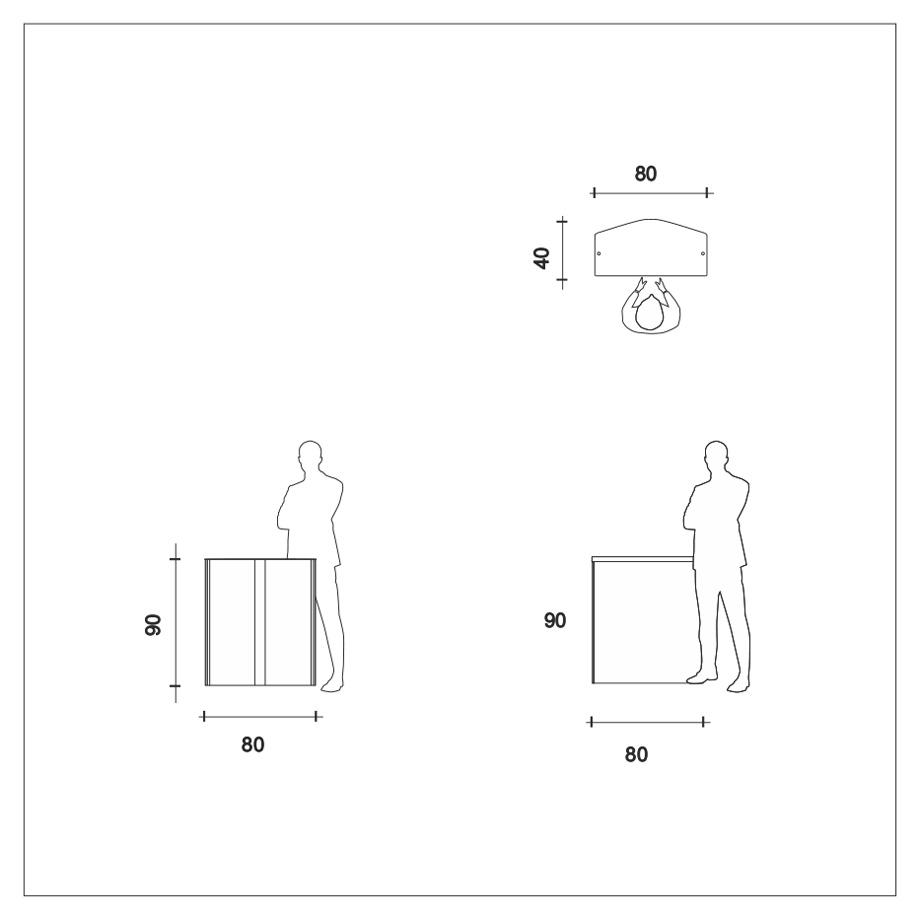 banchetto portatile misure