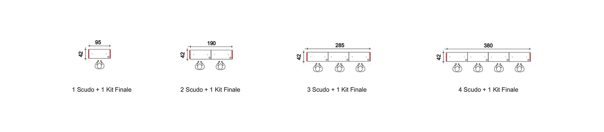 escritorio de módulos lineales