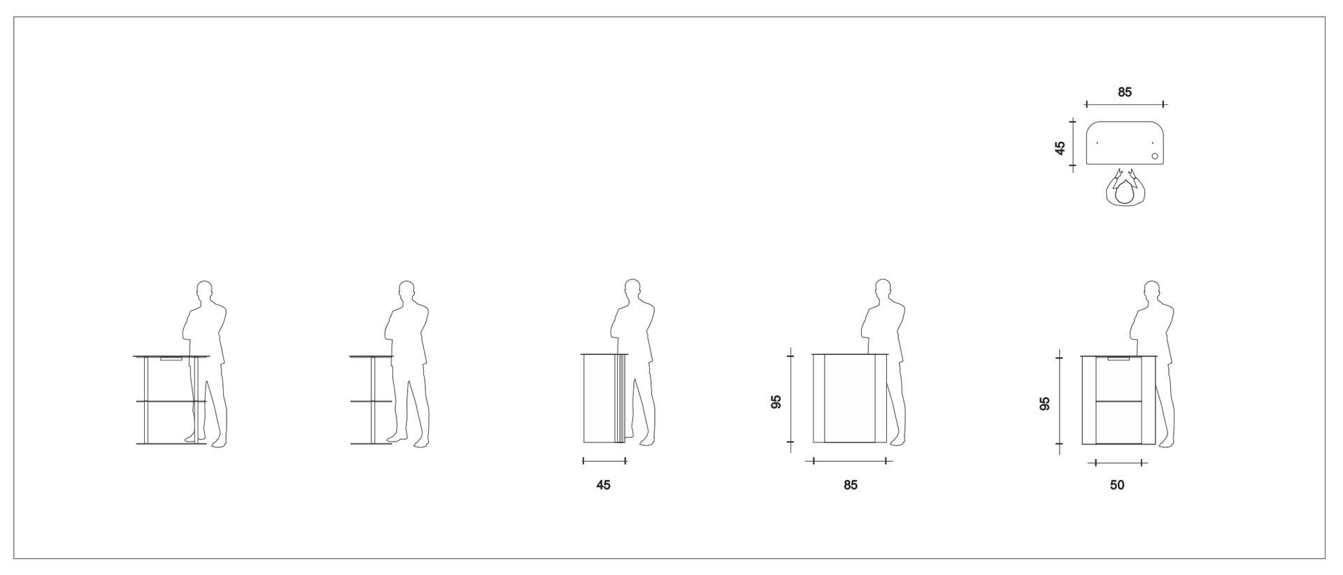 diseño de mostrador de recepción