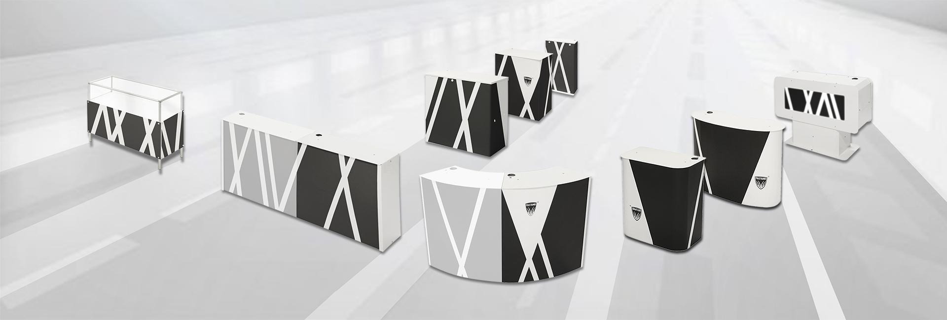 tragbare Schreibtischreihe