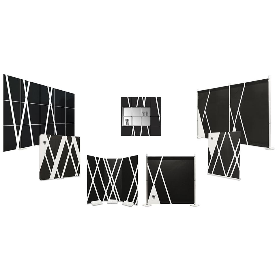 gamme complète de murs et de toiles de fond